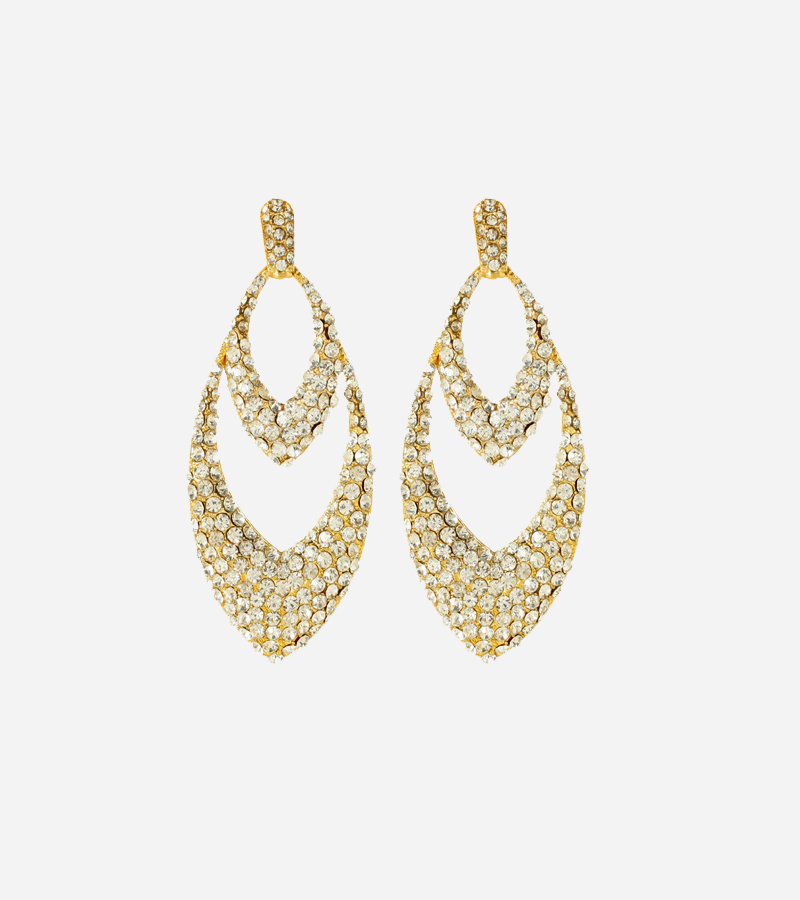 Long island boutique 18k gold plated chandelier earrings mozeypictures Image collections