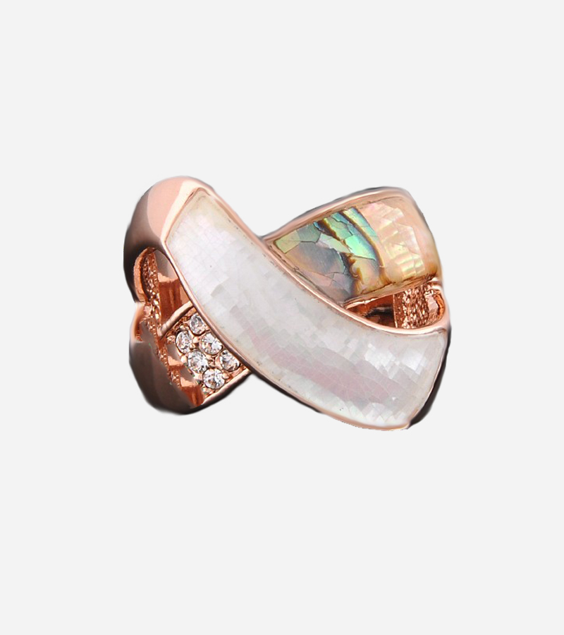 GP Swarovski Crystals & Shell Ring