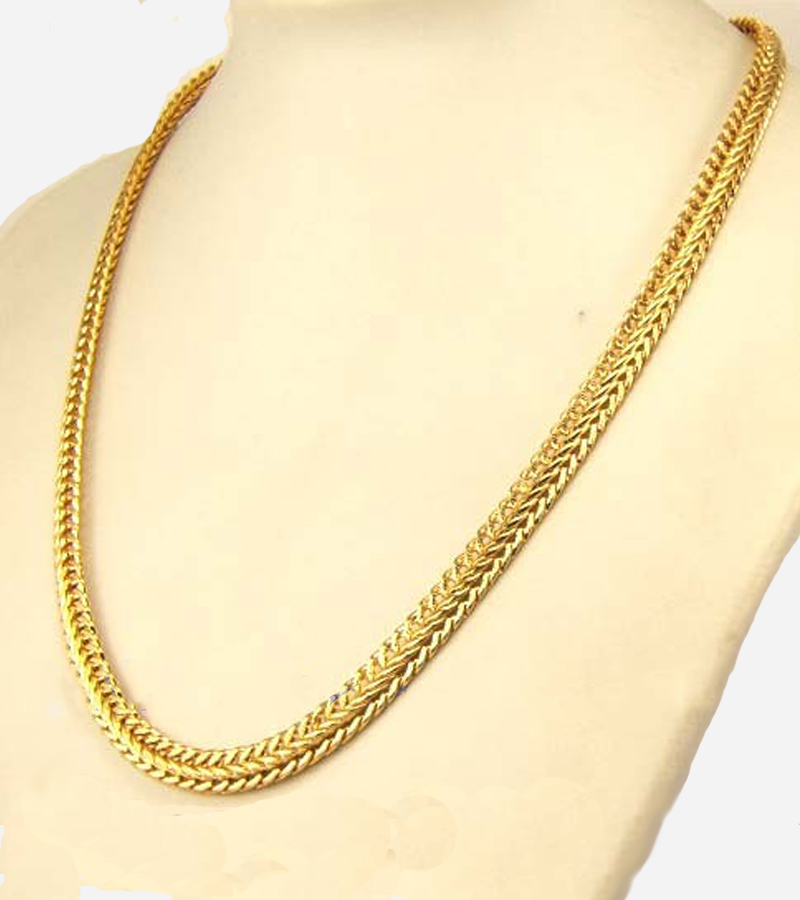 GP SNAKE NECKLACE SOLID FILL GEP CHAIN LINK