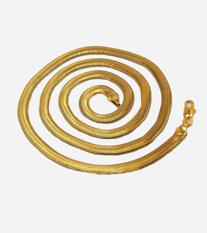 YELLOW GOLD GP SNAKE NECKLACE