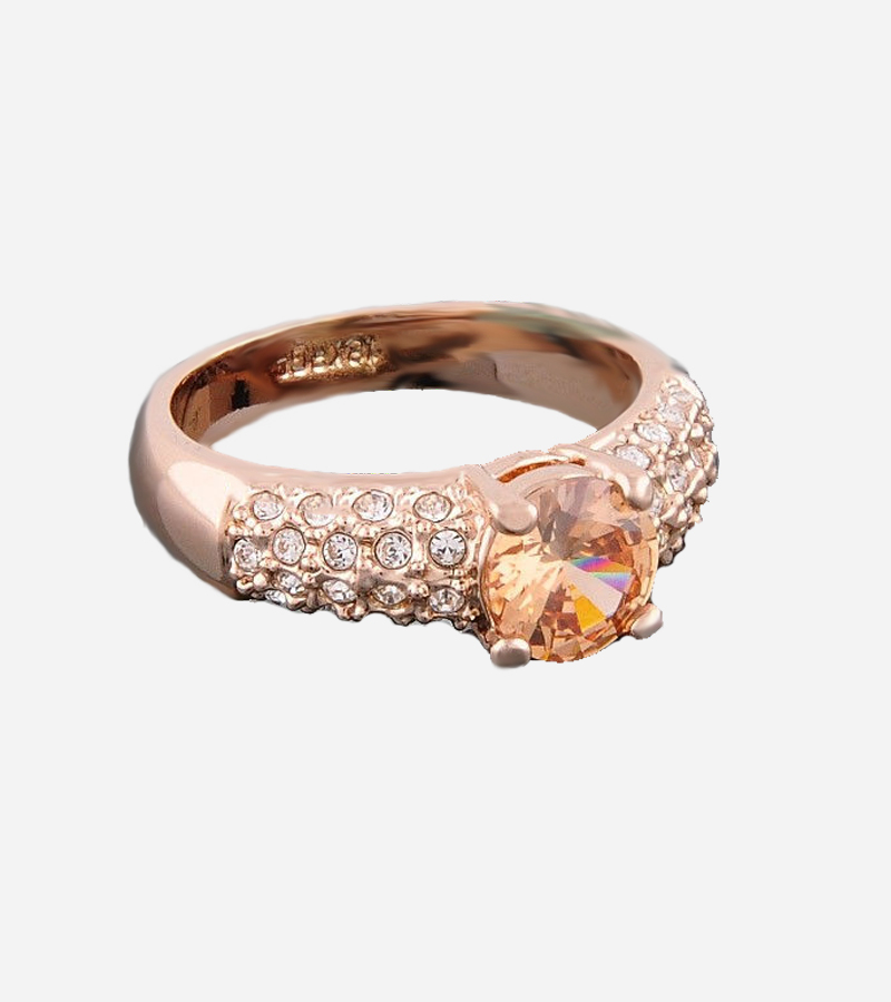 GP Swarovski crystal citrine wedding ring
