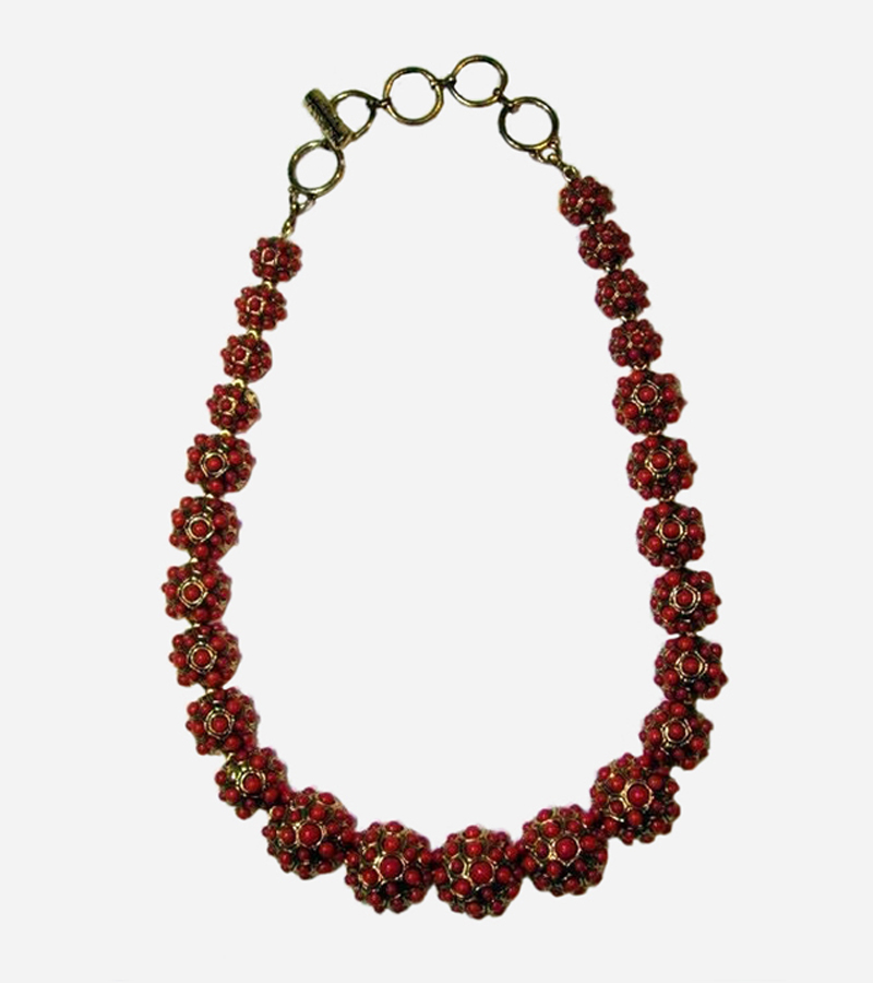 18K Gold Plated Coral Necklace