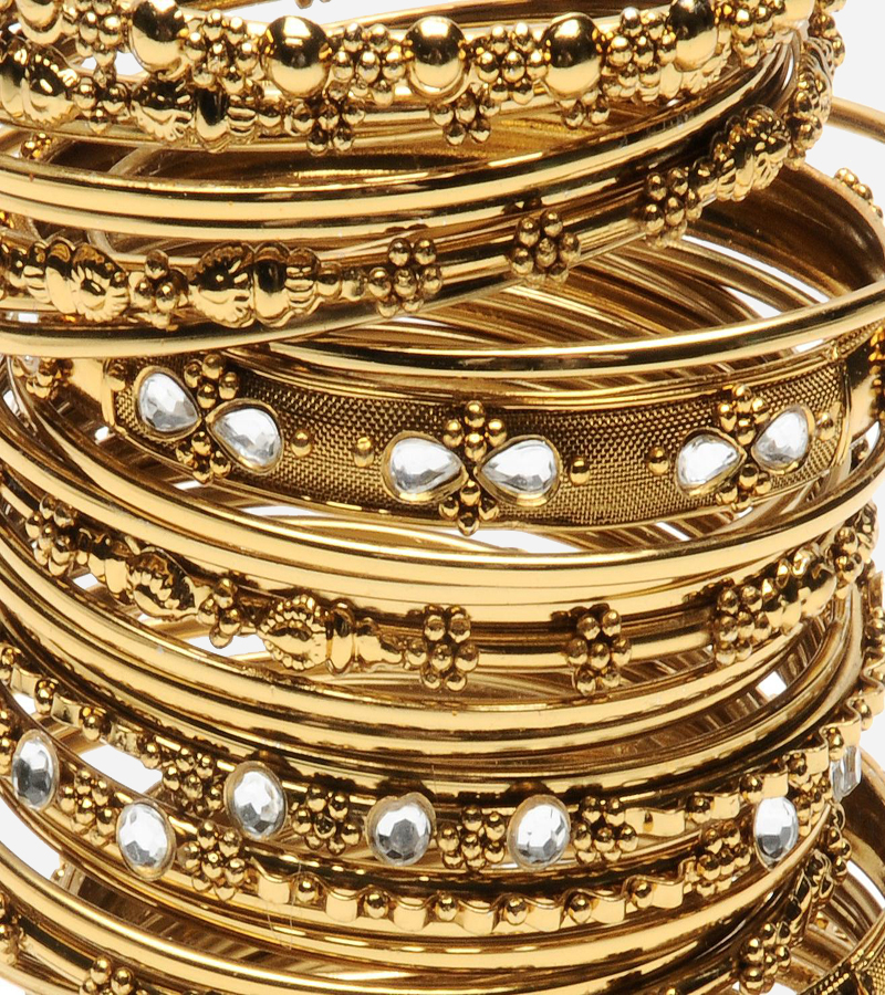 Oriental Gold Bangle Bracelets Set
