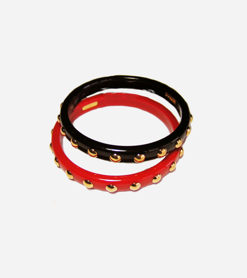 BALCK AND RED BANGLE BRACELET
