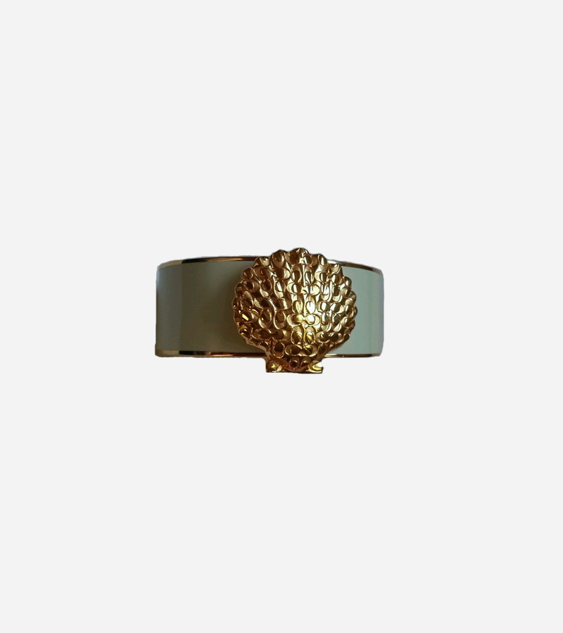 HINGED SIGNATURE SHELL BANGLE