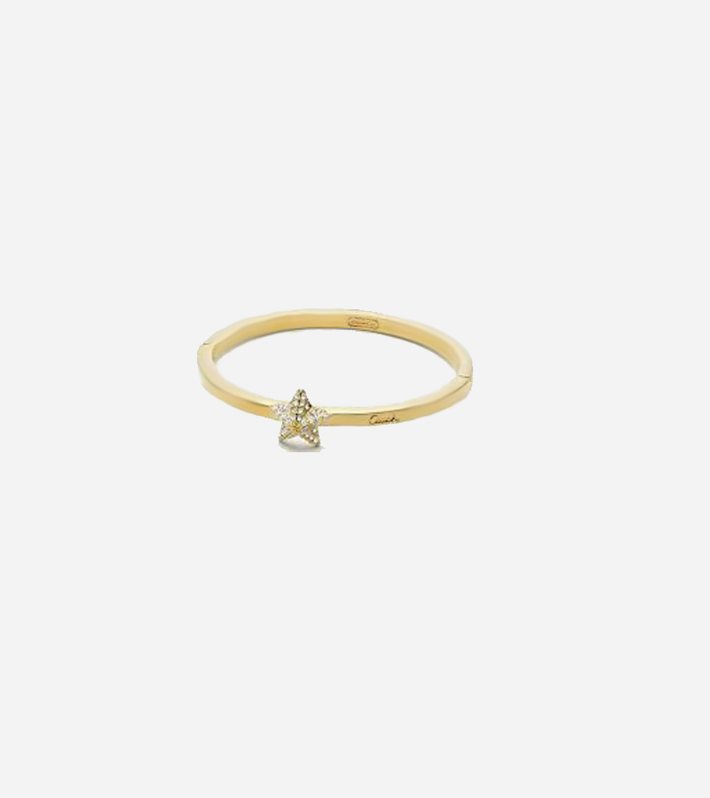 PAVE PYRAMID STAR HINGED BRACELET BANGLE