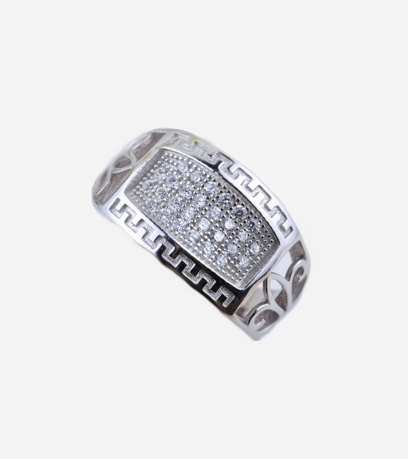 Men's CZ 925 Sterling Silver Ring