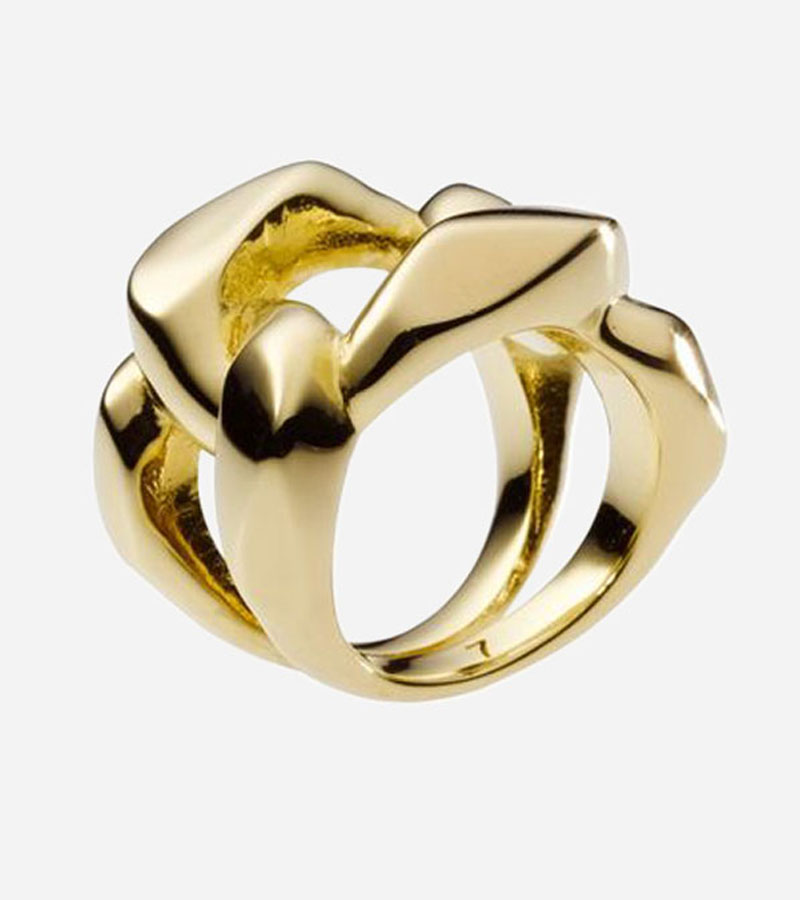 Golden Chunky Chain Ring