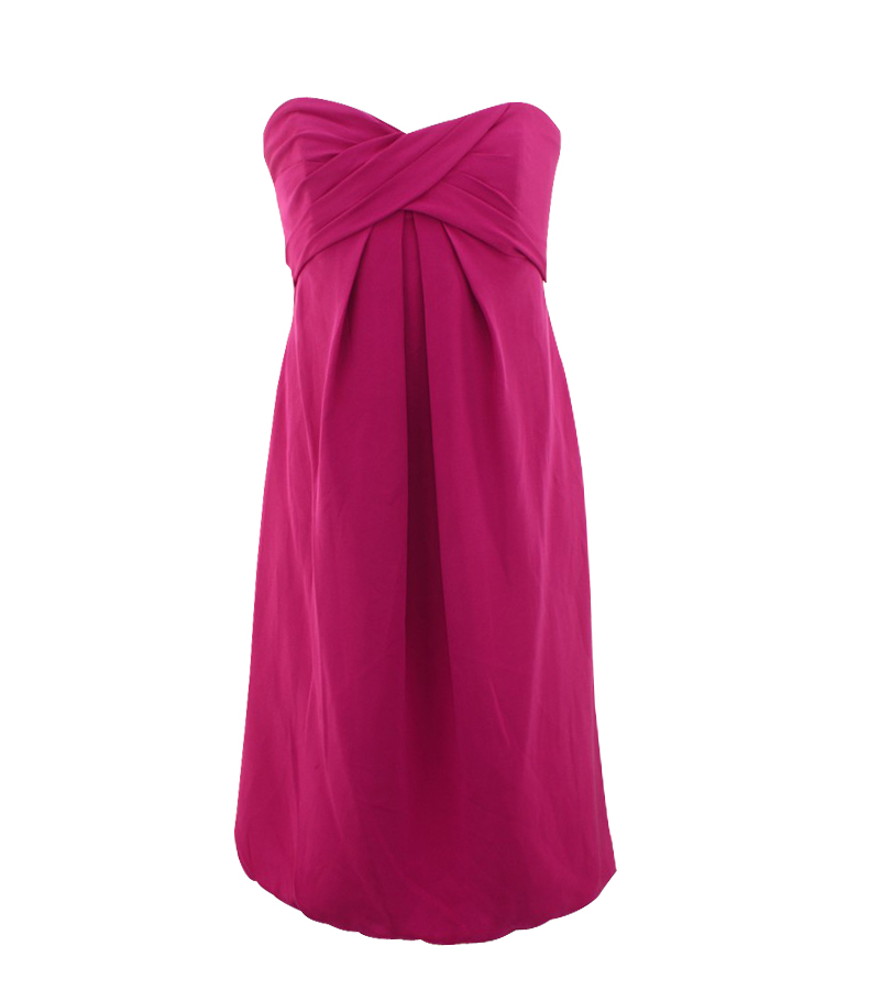 Bubble Hem Silk Dress
