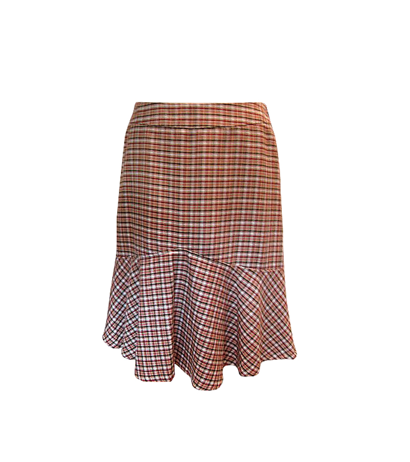 Women Brown Burgundy Skirt