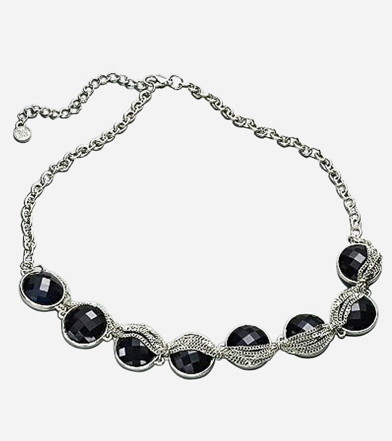 Vera Black Beaded Chunky Necklace