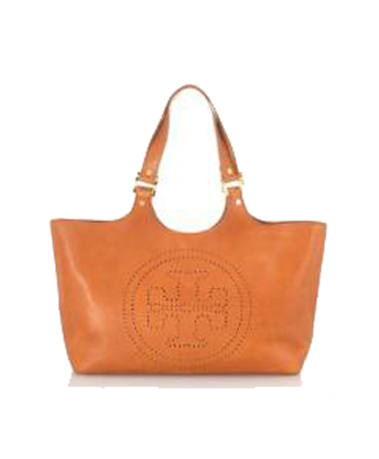 Tan Leather Tote Handbag