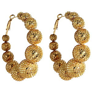 J.Lo Mesh Hoop Earrings