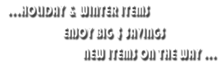 Holiday-Winter Items Banner