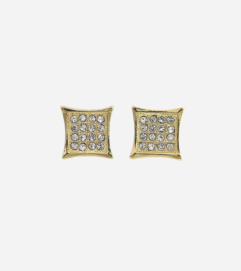 CZ crystal micro paved earrings