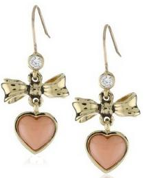 E-Coral Bow Drop Earring