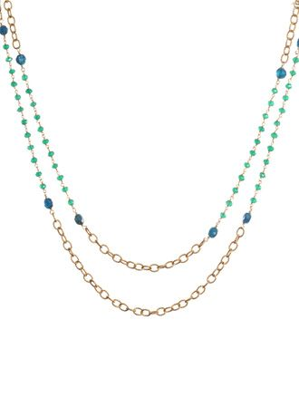 Double Rope Green Onyx Necklace