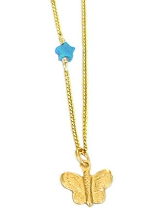 Butterfly on Star Necklace