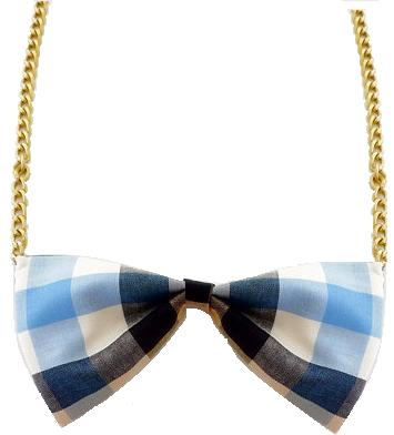 Blue Checkered Necklace