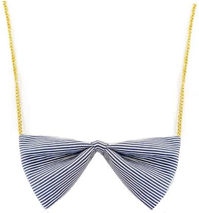 Blue Pinstripe Necklace