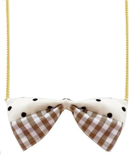 Brown Gingham Necklace